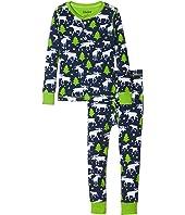 Hatley Kids - Moose & Stars Pajama Set (Toddler/Little Kids/Big Kids)