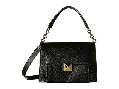Furla Diva Medium Shoulder Bag (Onyx) Handbags