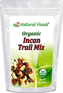 Organic Incan Trail Mix - Raw Superfood Snack - Cashews + Sunflower Seeds + Dark Chocolate Chips + Pumpkin Seeds + White M...