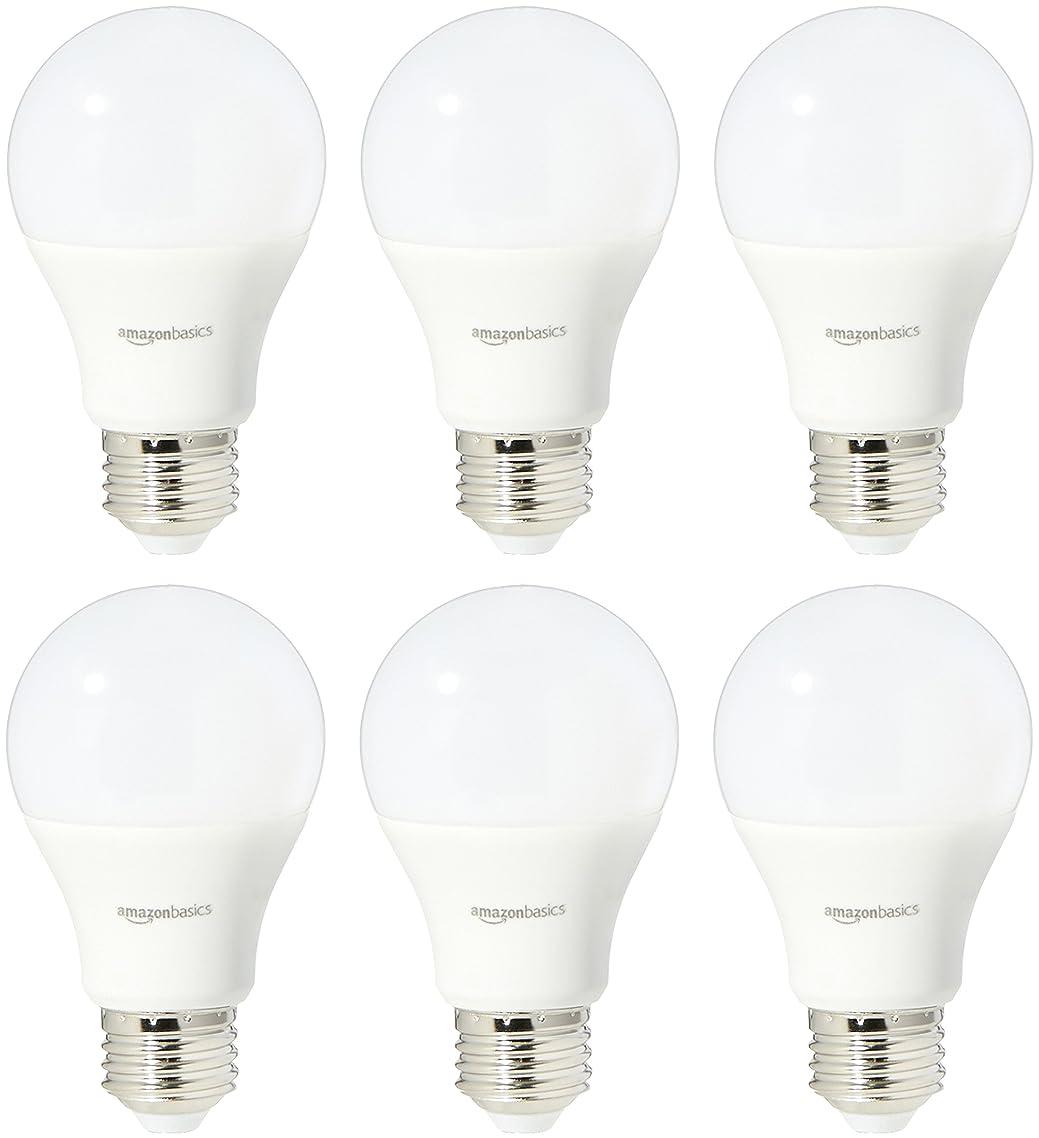 AmazonBasics 75 Watt Equivalent, Soft White, Dimmable, A19 LED Light Bulb | 6-Pack