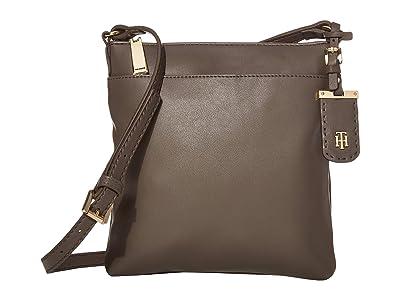 Tommy Hilfiger Julia North/South Crossbody (Mushroom) Cross Body Handbags