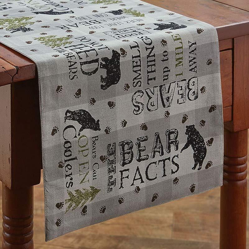Park Designs Bear Facts Table Runner 36 L