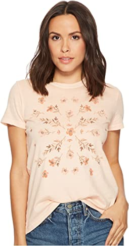 Lucky Brand - Stamp Flowers Tee