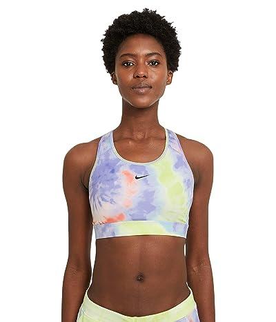 Nike Swoosh Pro Tie-Dye Bra (Bright Mango/Purple Pulse/Black) Women