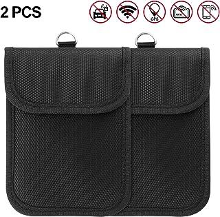 Winbang Autoschlüssel Etui, 2 Packs Signal Blocking Bag Faraday Bag Taschen Diebstahlsicherungsgeräte Schutztaschen mit Schlüsselring für GSM CDMA PHS