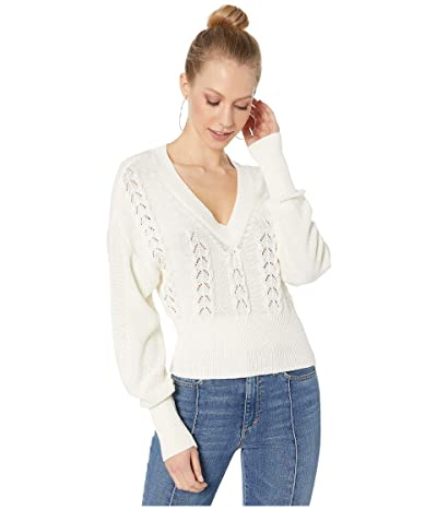 BCBGeneration Long Sleeve Pullover Sweater TQG5256397 (White) Women
