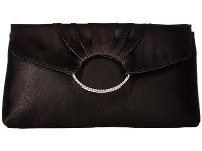 Jessica McClintock Scarlette Clutch (Black) Clutch Handbags