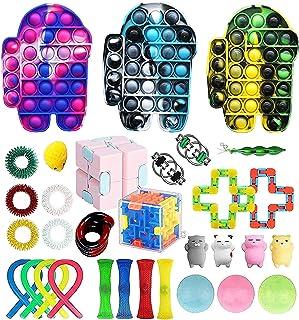 8x Sensorische Zappelspielzeug Set Anti-Stress Toy Kits Simple Dimple Fidget Toy