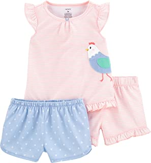 3-Piece Girls Poly Pajama Set