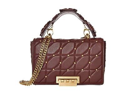 ZAC Zac Posen Earthette Medium Soft Chain Shoulder Solid Studded (Vino) Handbags