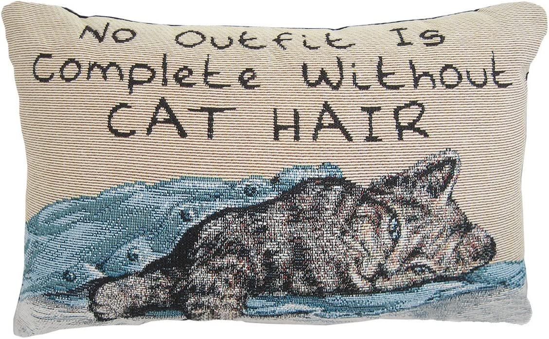 Manual 12.5 x 8.5-Inch Decorative Cat Throw Without discount Hair Topics on TV Pillow