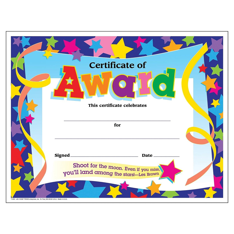 TREND enterprises Inc. Kansas City Mall T-2951BN Certificate Popular product C of Award Colorful