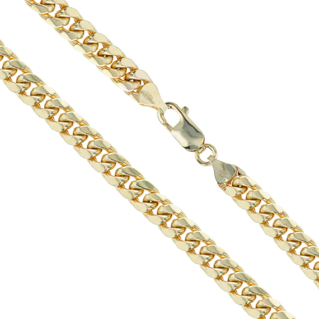 10k Yellow Gold Curb Chain CHOOSE YOUR WIDTH Necklace