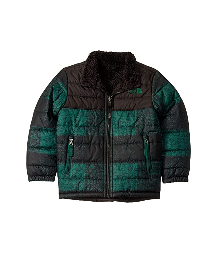Reversible Mount Chimborazo Jacket (Little Kids/Big Kids) Night Green Buff Check Print