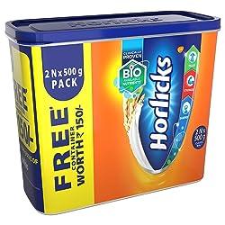 Standard Horlicks Health and Nutrition Drink - 2 x 500 g (Classic Malt)