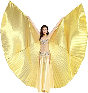 Belly Dance 360 Degree Isis Wings with Portable Flexible Sticks
