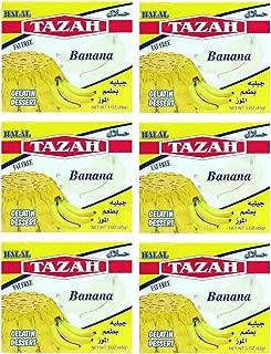 Banana Gelatin Dessert Jello Halal 3.oz/85gm each - Pack of 6 - جيلية بطعم الموز حلال