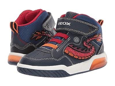 Geox Kids Jr Inek 7 (Little Kid) (Navy/Red) Boys Shoes