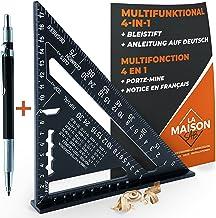 Timmerhoek van metaal aluminium [+ pen + handleiding FR] geleiderail / gereedschap voor knutselen, timmerman/regel, graden...