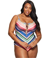 BECCA by Rebecca Virtue Plus Size West Village One-Piece