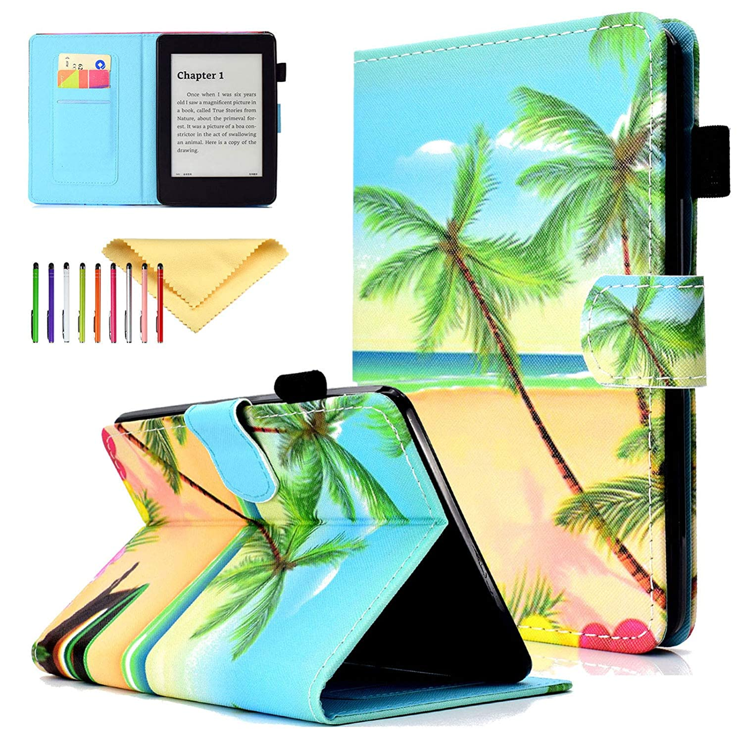 Smart Case for Kindle Paperwhite, Cookk PU Leather Flip Stand Magnetic [Auto Sleep Wake] Wallet Case for Amazon Kindle Paperwhite E-Reader 6