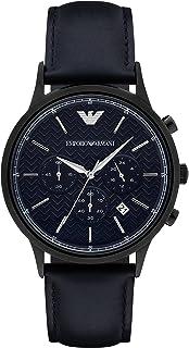 Emporio Armani Men's AR2481 Dress Black Leather Watch