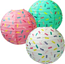 Sprinkle Paper Lanterns Decorative, Hanging Paper Lanterns Ball for Home Decor, Birthday, Christmas, Parties and Weddings,...