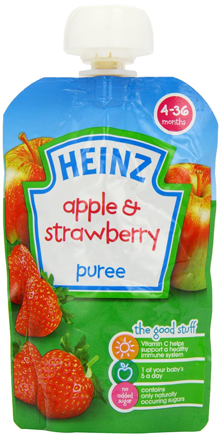 Heinz Smooth Apple  Strawberry 4-36 Mths 100g - Pack of 6