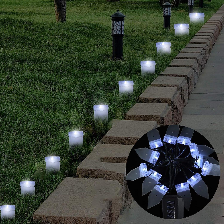 MorTime Solar Ground Lights Ultra-Cheap Deals 12 Super Special SALE held LED Light String Outdoor 10.8 FT