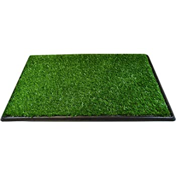 """Downtown Pet Supply Dog Pee Potty Pad, Bathroom Tinkle Artificial Grass Turf, Portable Potty Trainer Full System, Trays, and Replacement Grass (16"""" x 20"""", 20"""" x 25"""", 20"""" x 25"""" with Drawer, 25"""" x 30"""")"""