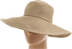 RBL205 Ribbon Crusher Hat with Ticking Sun Hat