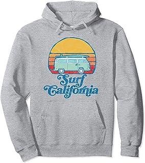Retro California Hippie Van Groovy Beach Bum Surfer Graphic Sweat à Capuche