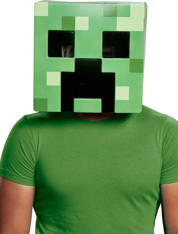 Disguise Minecraft Creeper Half Mask
