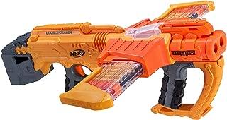 NERF Doomlands Blaster Double Dealer Toy Blaster with Two 12-Dart Clips & 24 Official Elite Darts for Kids, Teens, & Adults, Orange, Standard