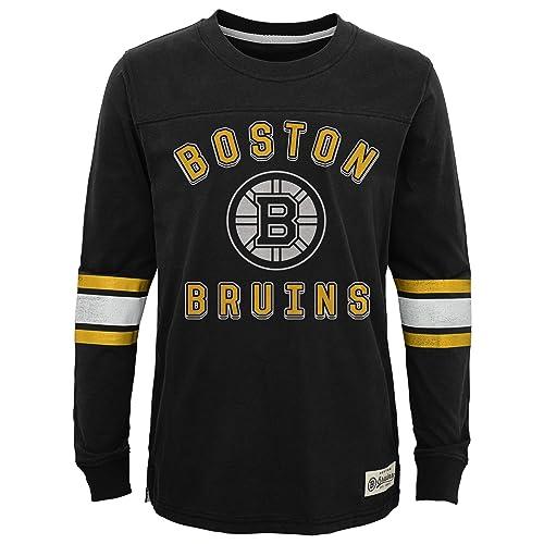 quality design 6a43e 2927a NHL Boston Bruins Youth Boys Historical Crew, Medium(5-6), Black