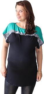 geeignet f/ür Schwangerschaft und au/ßerhalb rot rot Large Baumwolle Top MIA Mutterschaft Schwangerschaft tragen Schwangerschafts Tunika ASSYM