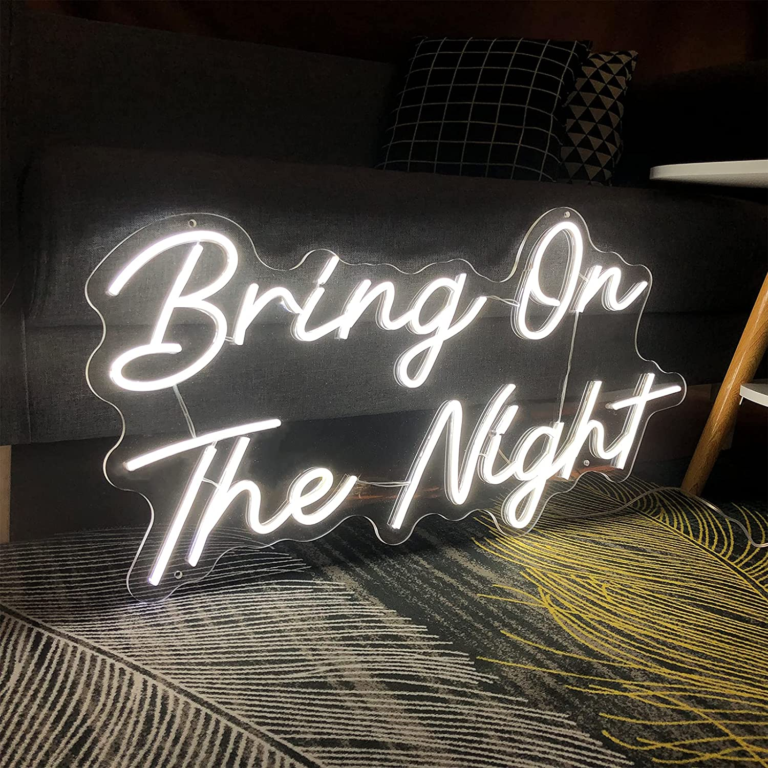 Neon Signs Bring On lowest price The L Night-Transparent Popular brand in the world Dimmers Acrylic with