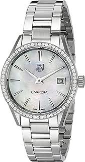 TAG Heuer Women's WAR1315.BA0778 Carrera Analog Display Swiss Quartz Silver Watch
