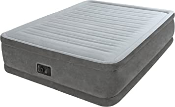 Intex Dura Beam Plus Materasso Gonfiabile, Comfort Plush, Tecnologia Fiber Tech, 152 x 203 x 46cm