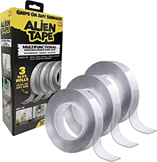 ALIENTAPE Nano Double Sided Tape, Multipurpose Removable Adhesive Transparent Grip Mounting Tape Washable Strong Sticky He...