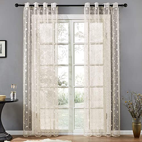Patterned Voile Curtains: Amazon co uk