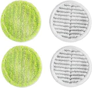 アクセサリー-クリーニングモップはに適用することができます掃除機 コードレスコードレス回転モ プクリーナー コードレス掃除機 回転モップクリーナー 掃除用モップ 回転モップ 床拭きシート パルスイクロス モップ (2個緑と2個白い)