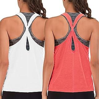 FAFAIR Women's Sexy Crop Top Yoga Workout Shirts Activewear Open Back Loose Casual Tank