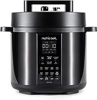 Nutricook Smart Pot 2 1000 Watts - 9 in 1 Instant Programmable Electric Pressure Cooker, 6 Liters, 12 Smart Programs, 2...