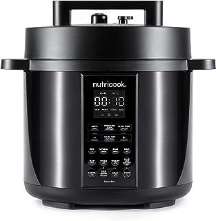 Nutricook Smart Pot 2 1000 Watts - 9 in 1 Instant Programmable Electric Pressure Cooker, 6 Liters, 12 Smart Programs, 2 Ye...
