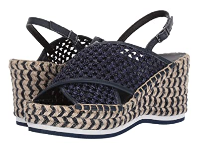 Donald J Pliner Lotti (Navy Woven Raffia) Women