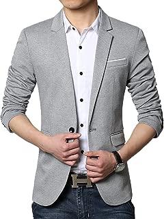 Men's Slim Fit Casual One Button Blazer Jacket