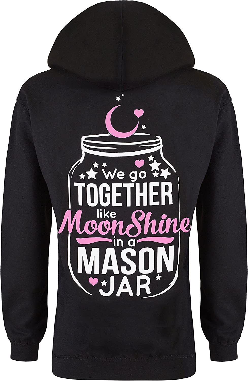Cute n' Country Women's Moonshine in a Mason Jar Hoodie