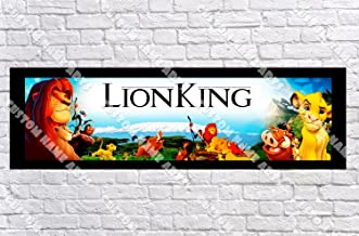 Personalized The Lion King Banner - Includes Color Border Mat, With Your Name On It, Party Door Poster, Room Art Decoration - Customize