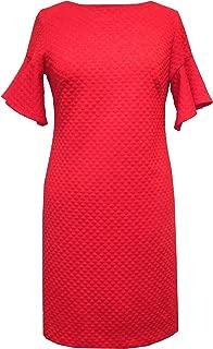 Sandra Darren Women's Short Flutter Sleeve Knit Sheath Dress